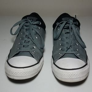 Converse shoes black gray size 10 men's 13 womens